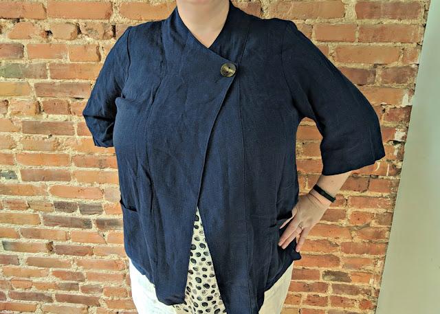 Market & Spruce, Miranda Linen Blend Jacket,