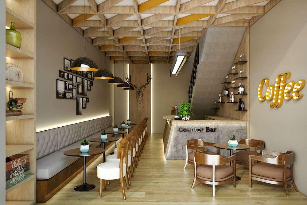 Desain Cafe Minimalis untuk Memikat Pelanggan (cgtrader.com)