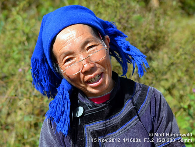 close up, people, street portrait, China, Yunnan, hill tribe, ethnic minority, traditional costume, Yuanyang, Hani people
