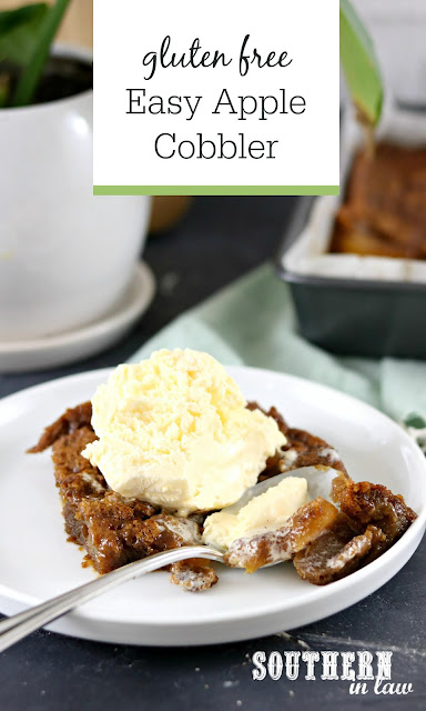 Gluten Free Easy Cinnamon Apple Cobbler Recipe - Six Ingredients, Egg Free, Healthy, Gluten Free, Refined Sugar Free, Quick and Easy