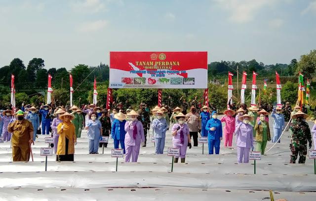 Dharma Pertiwi Serahkan Bantuan Alat Pertanian di Cianjur