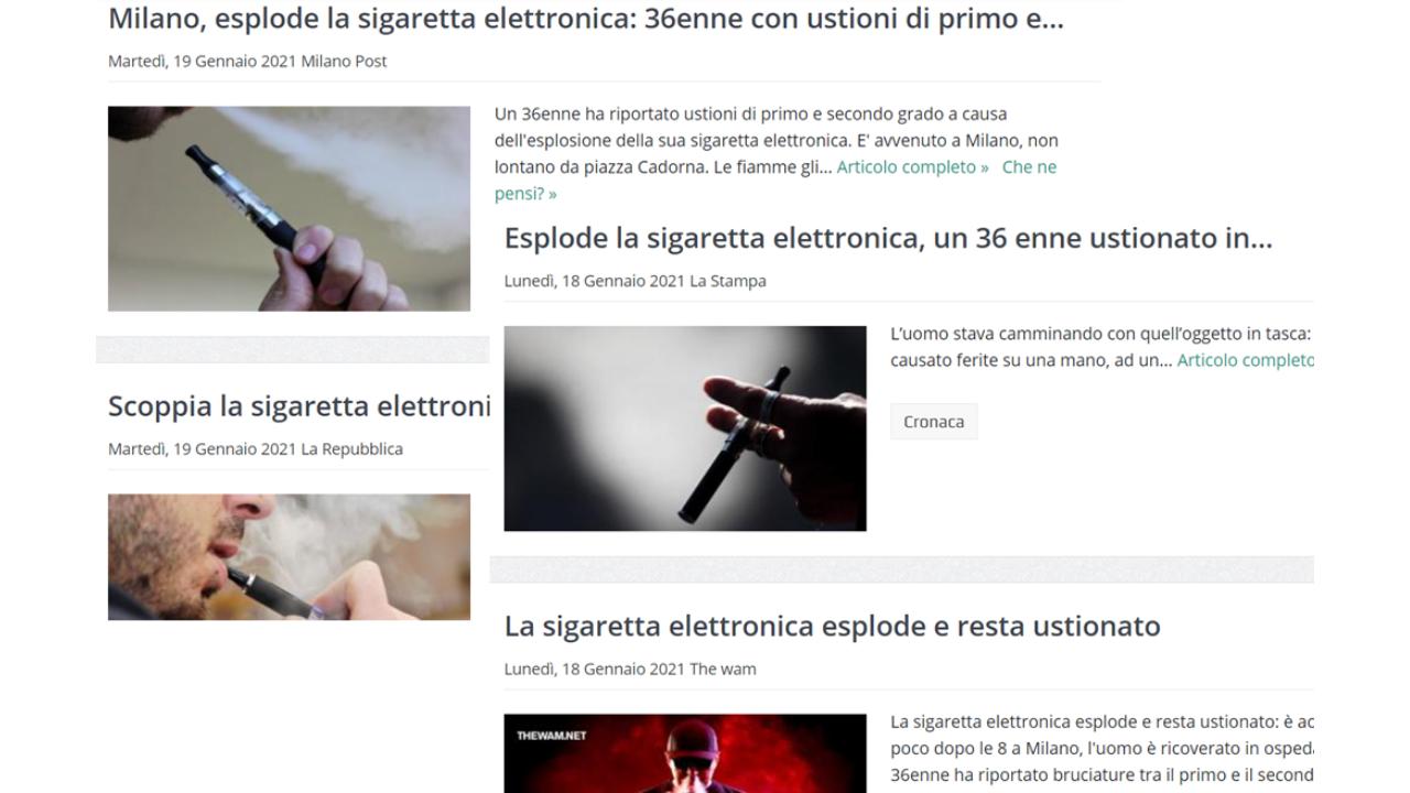 sigaretta elettronica esplode milano
