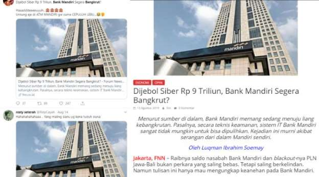 Diberitakan Mau Bangkrut, Bank Mandiri Pidanakan Media Online