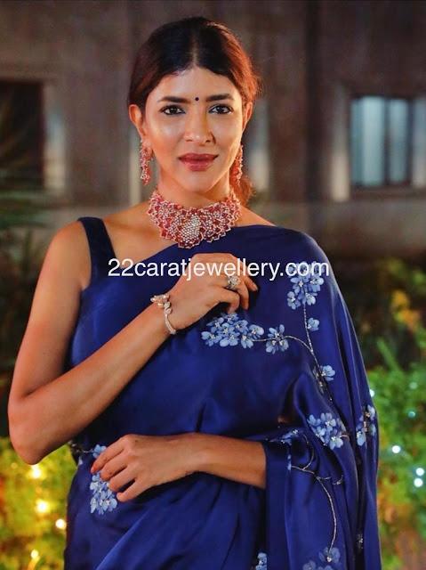 Laxmi Prasanna Ruby Diamond Choker