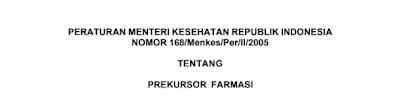 Permenkes No 168 Tahun 2005 Tentang Prekursor Farmasi