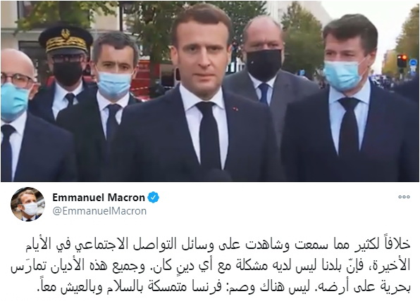 Produk Prancis Diboikot di Berbagai Negara, Macron Ngetweet Pakai Bahasa Arab, Isinya Seperti Ini