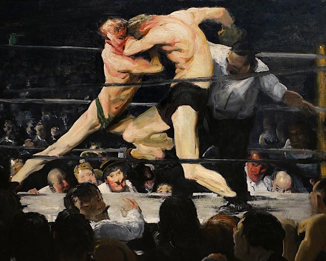 George Bellows: Pugili (dettaglio)