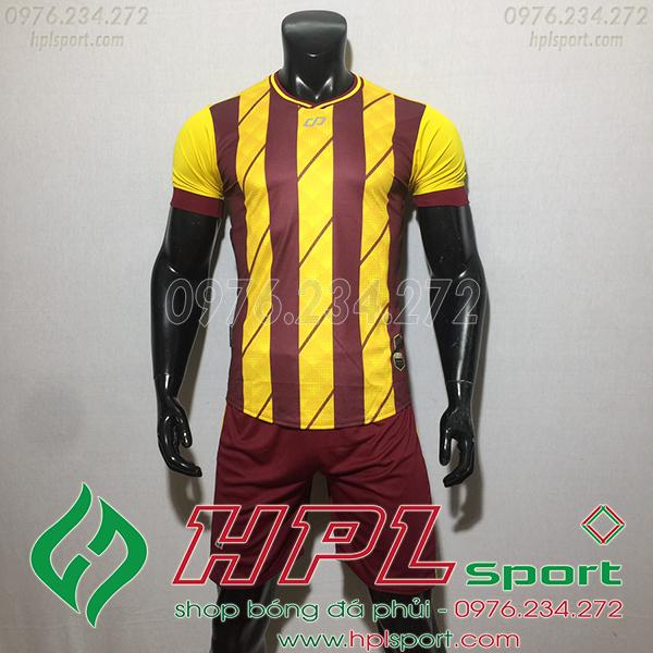 Áo bóng đá ko logo Cp HuB màu vàng