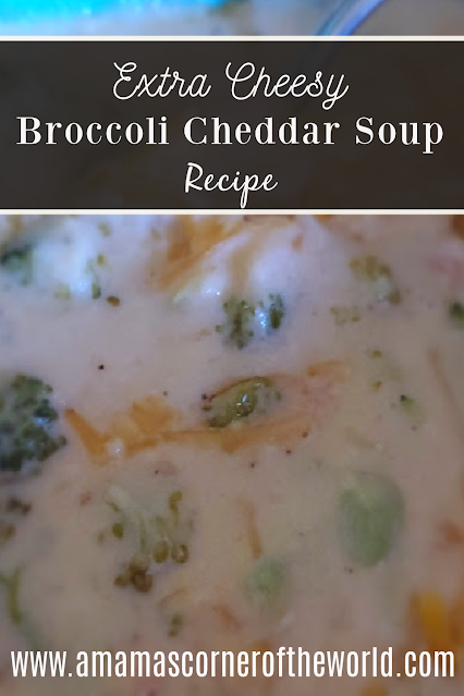 Pinnable Image for Broccoli Cheese Soup Recipe