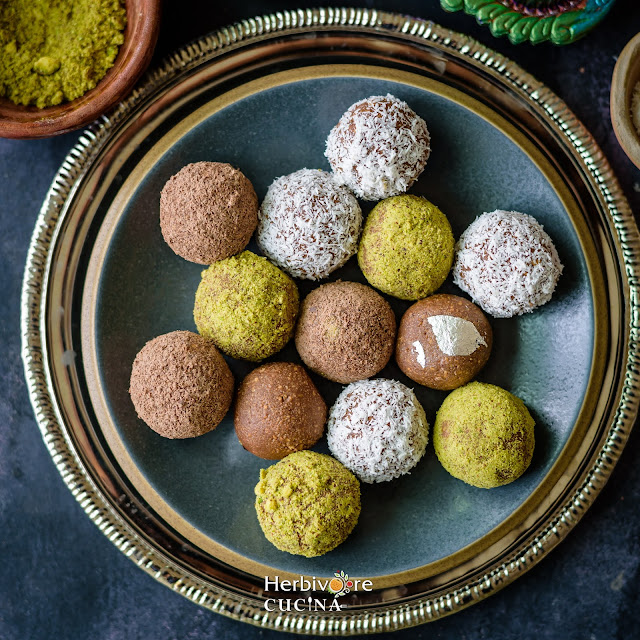 Easy Marie Chocolate Truffles in a plate