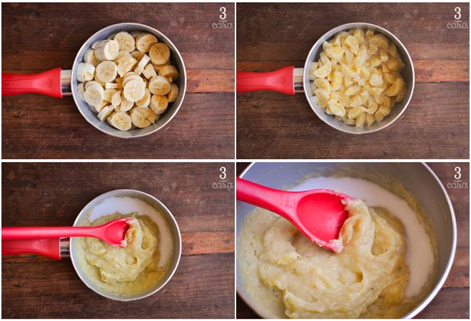 como fazer purê banana prata