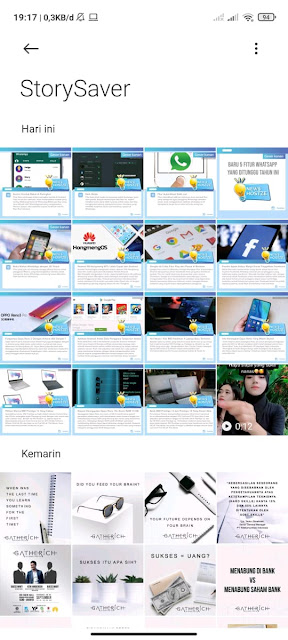 Hasil download Foto dan Video di Galeri - hostze.net