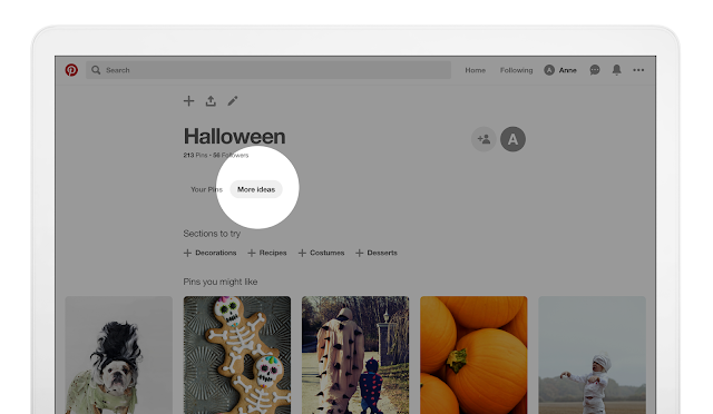 Pinterest's More Ideas Tab Is Now Available to Everyone via Desktop and Its Mobile Apps