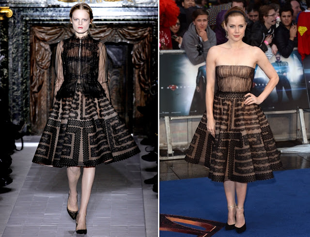 Amy Adams in Valentino (Spring 2013 Couture) – 'Man of Steel' London Premiere