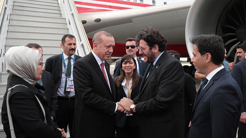 أردوغان يصل الأرجنتين