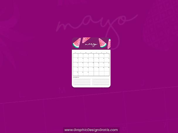 Calendario colorido 2020 por meses gratis