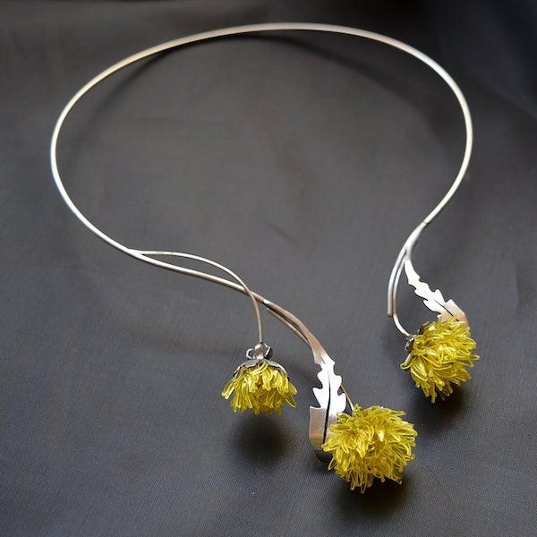 recycled%2BPET%2Bbottle%2Bjewelry%2Bdandelion%2Bnecklace