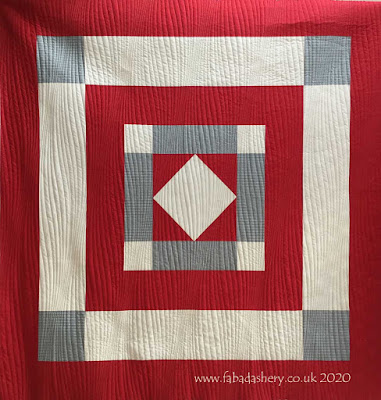 Traditional Welsh Quilt with a modern touch, made by Jan