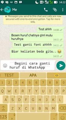 4 Cara Mengganti Huruf di WhatsApp Tanpa Harus Root
