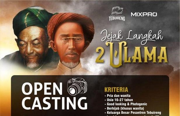Open Casting, Dicari Calon Aktor Film Jejak Langkah Ulama