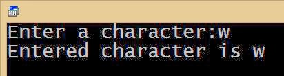 accepting and displaying a character