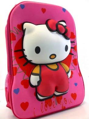Tas Sekolah Anak Perempuan Karakter Hello Kitty Untuk TK Dan SD