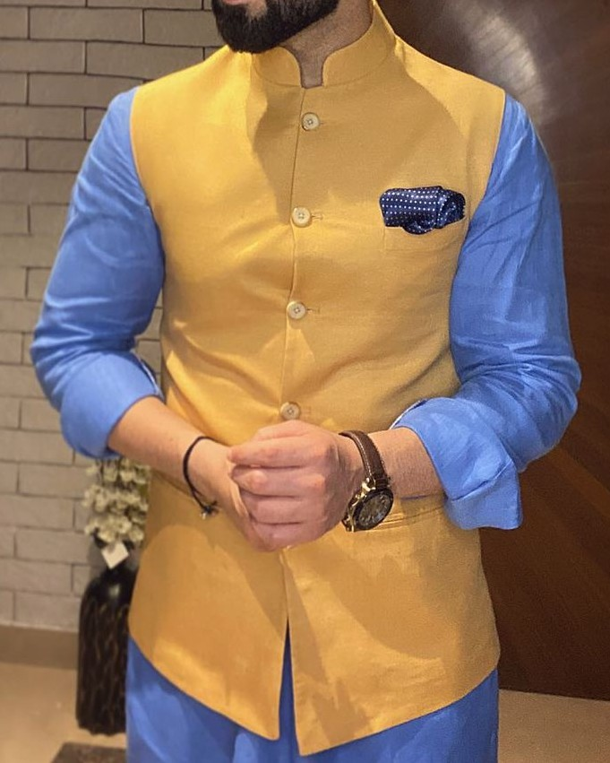 Nehru jacket and shirts combo.