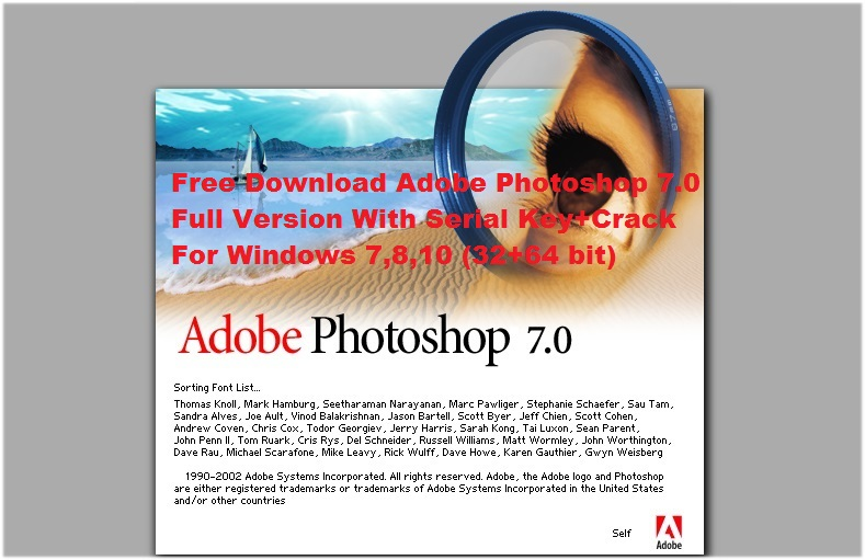 adobe photoshop 7.0 free download full version with crack