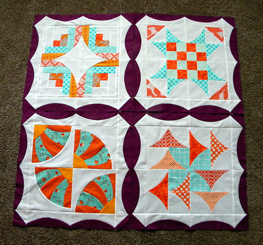 """Curve it up"" Block Border Tutorial designed by Jenny Pedigo of Sew Kind of Wonderful"