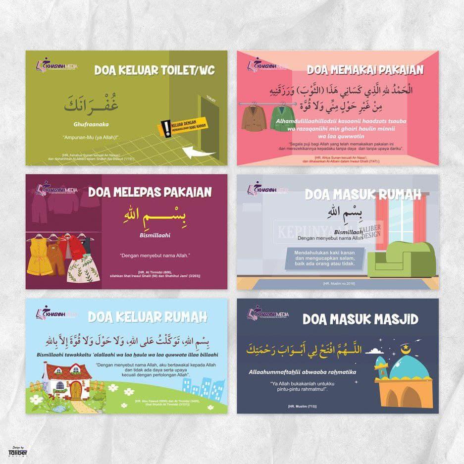 Stiker Doa Sehari-hari Adz Dzahabi