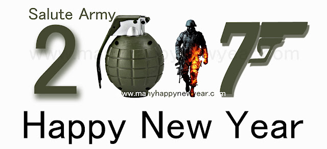Happy New Year 2107 Army
