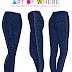 Custom Printed Leggings - Dark Blue Jeans V2