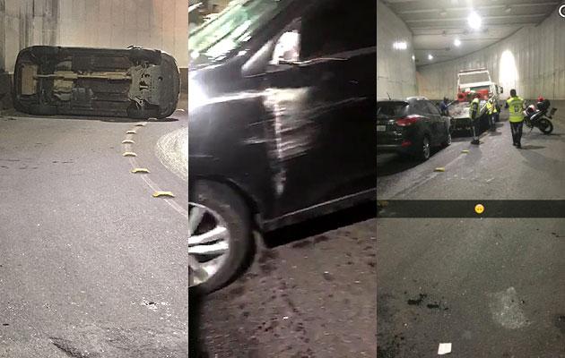Fotografia Carro de Andressa Soares (Mulher Melancia) capotou em acidente