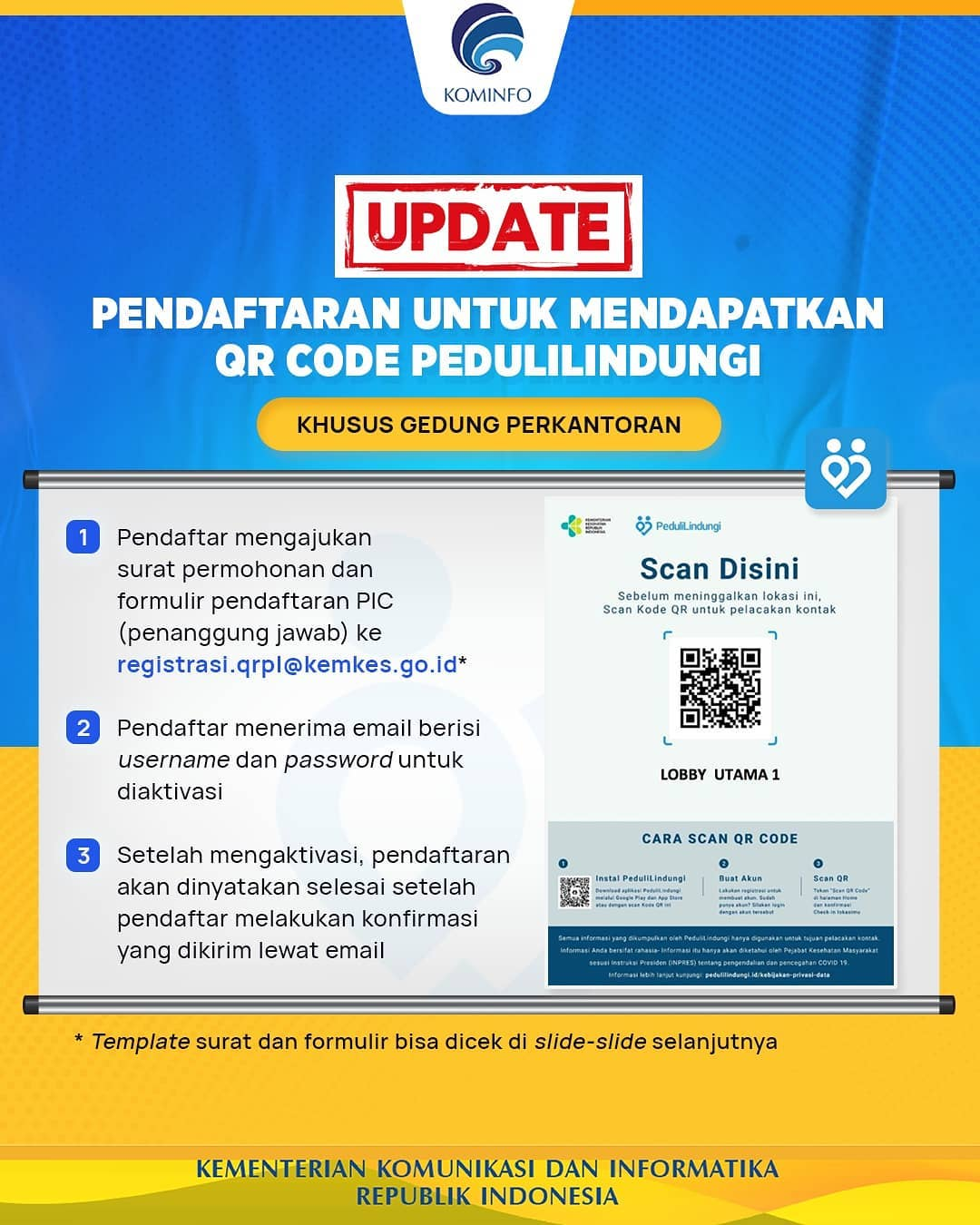 Syarat Pendaftaran Buat QR Code Check In Pedulilindungi
