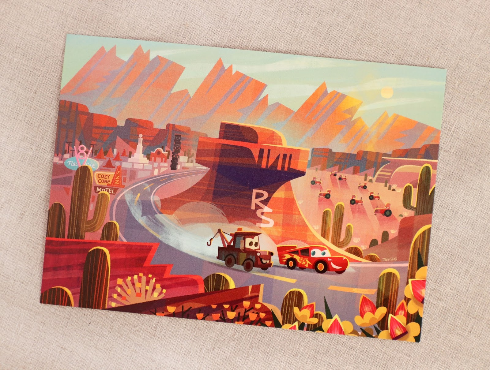 "Cars ""Race Around Radiator Springs"" Art by Joey Chou"