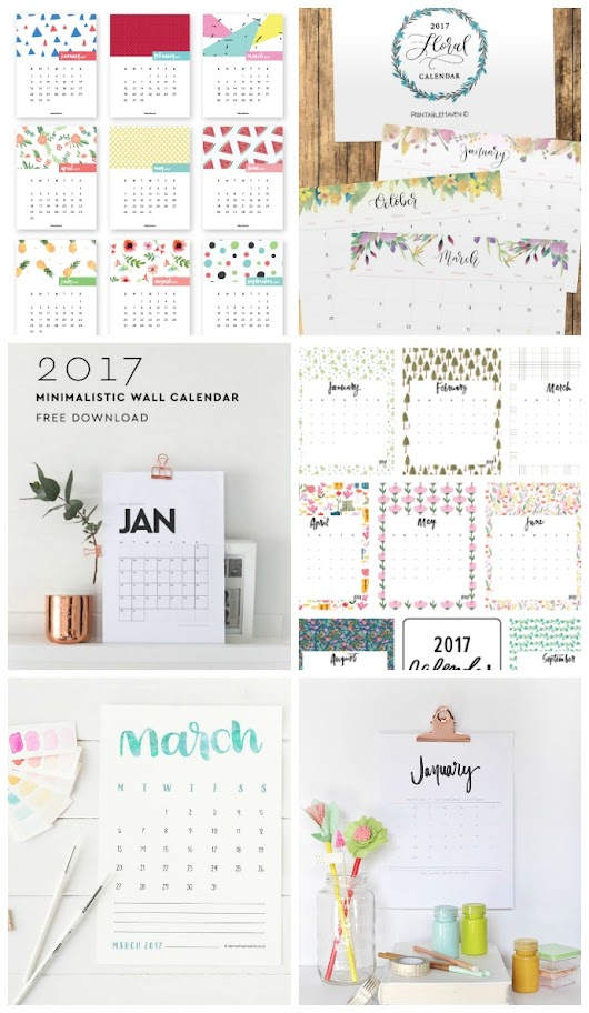 2017 Printable Calendars You Will Love