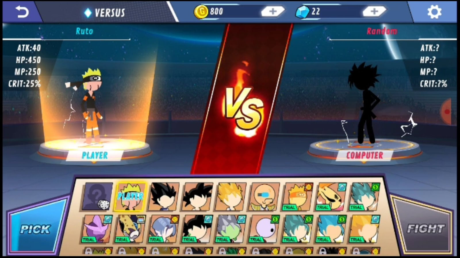 Dragon Ball stick fighters, stick hero fighters
