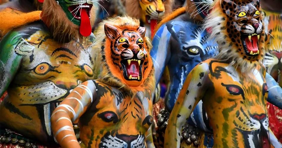 Onam, Pulikali,Tiger Dance