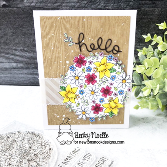 Hello by Becky features Floral Roundabout by Newton's Nook Designs; #newtonsnook