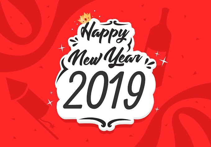 Happy New Year 2019 Free Vector Illustration free vector file