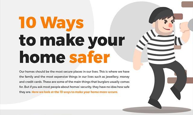 10 Ways To Make Your Home Safer #infographics