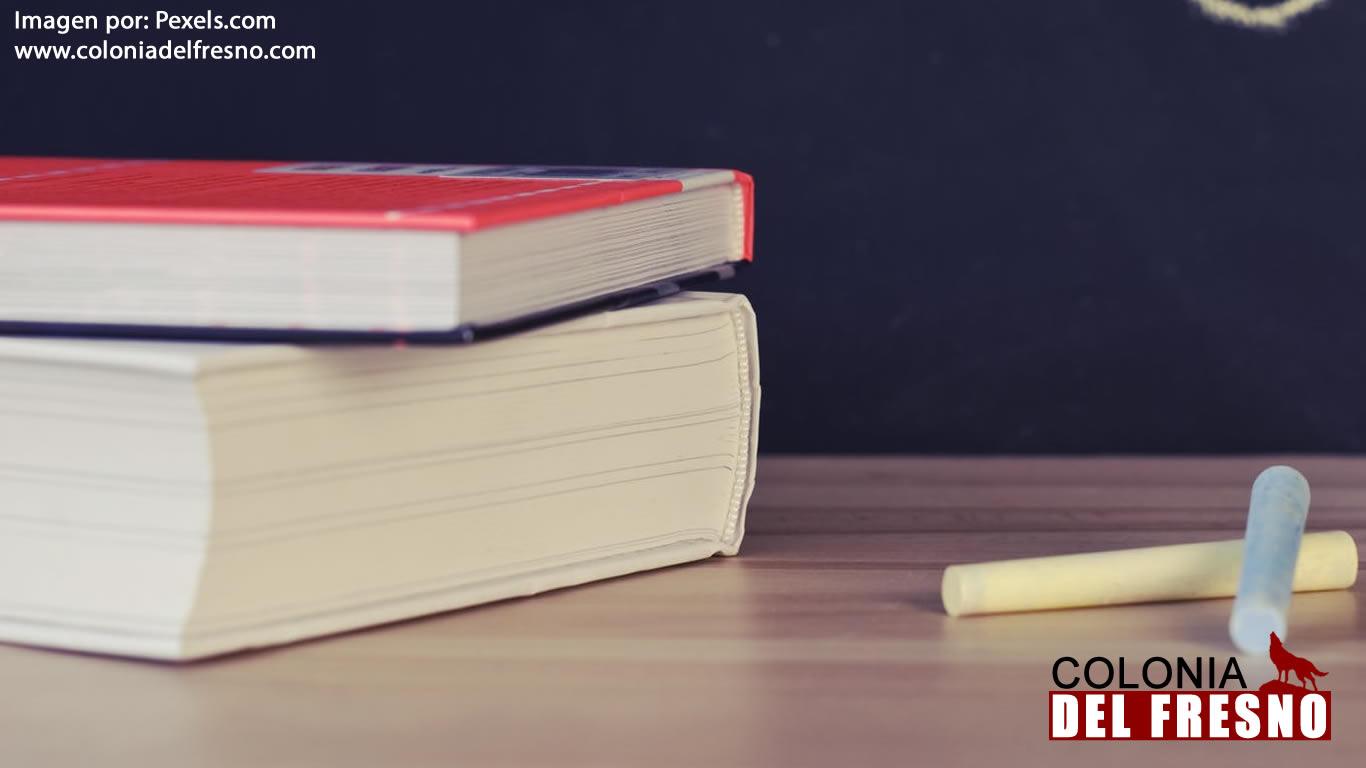 libros y pizarron escuelas
