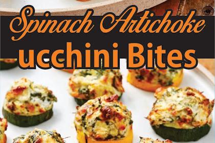 Spinach Artichoke Zucchini Bites