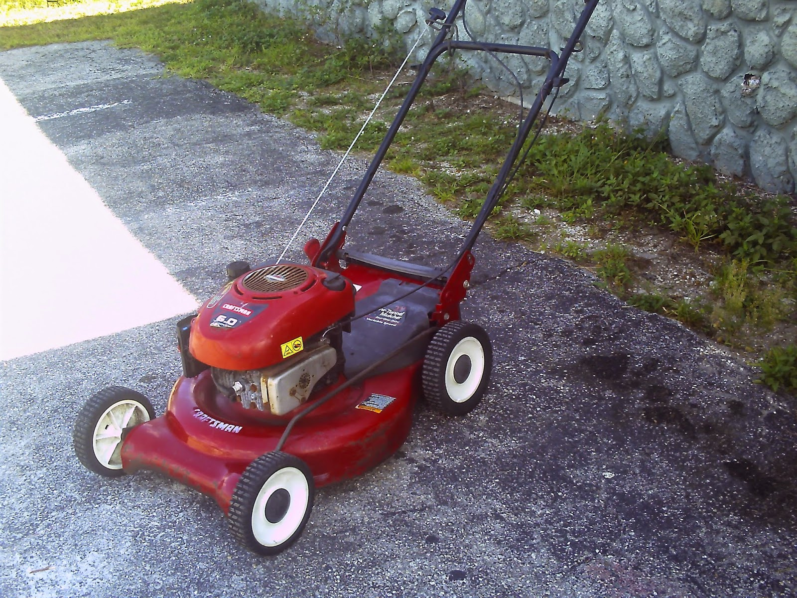 Craftsman Rear Wheeled Self Propelled Mower 6 0 Hp Heavy Duty That Is An Excellent Addition To Any Avid Yardperson S Lawn Equipment Nal