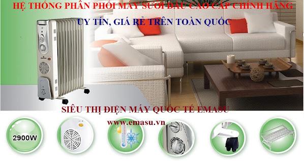 Nơi bán Máy Sưởi Dầu FujiE, Tiross, Delonghi, Saiko giá rẻ, uy tín, chất lượng nhất
