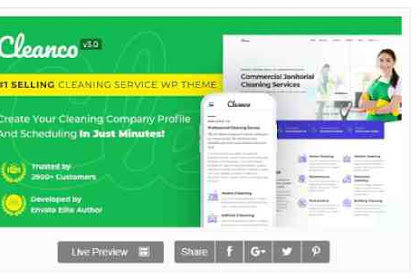 Download Theme Wordpress Cleaning Service Company