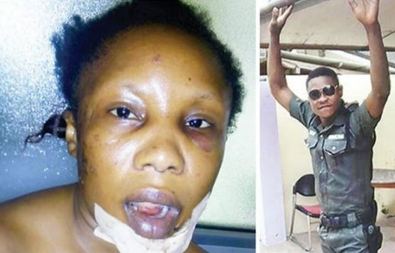 Face Of Policeman Who Broke A Lady's Jaw In Lagos