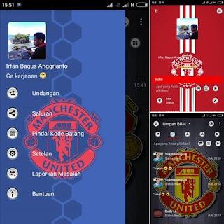 BBM Mod Manchester United V3.3.0.16 Apk