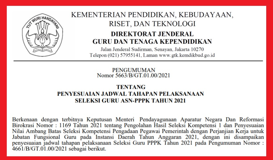 gambar jadwal pendaftaran PPPK guru tahap 2 dan 3