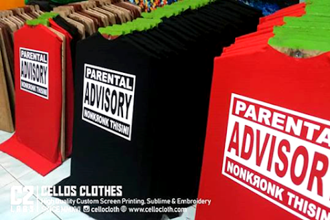 Tahap Proses Sablon Kaos Parental Advisory Nonkrong Thisini